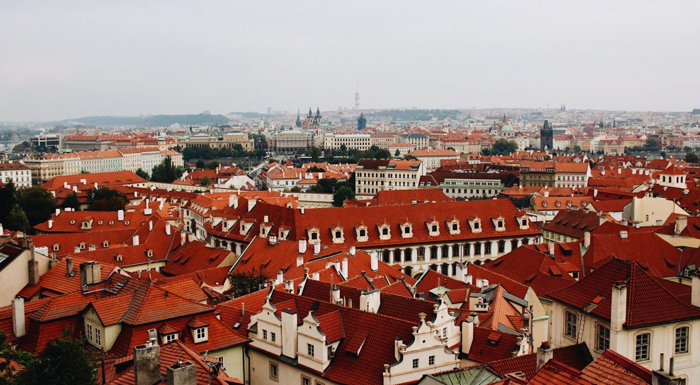 Photo of Prague from on top the castle!