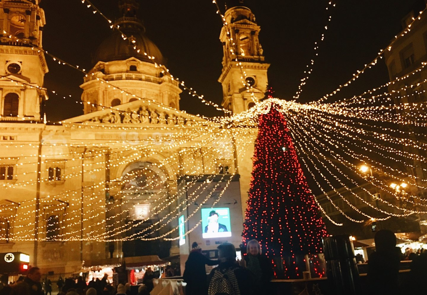 St. Stephen's Basilica all decorated for Christmas in Budapest, Hungary!