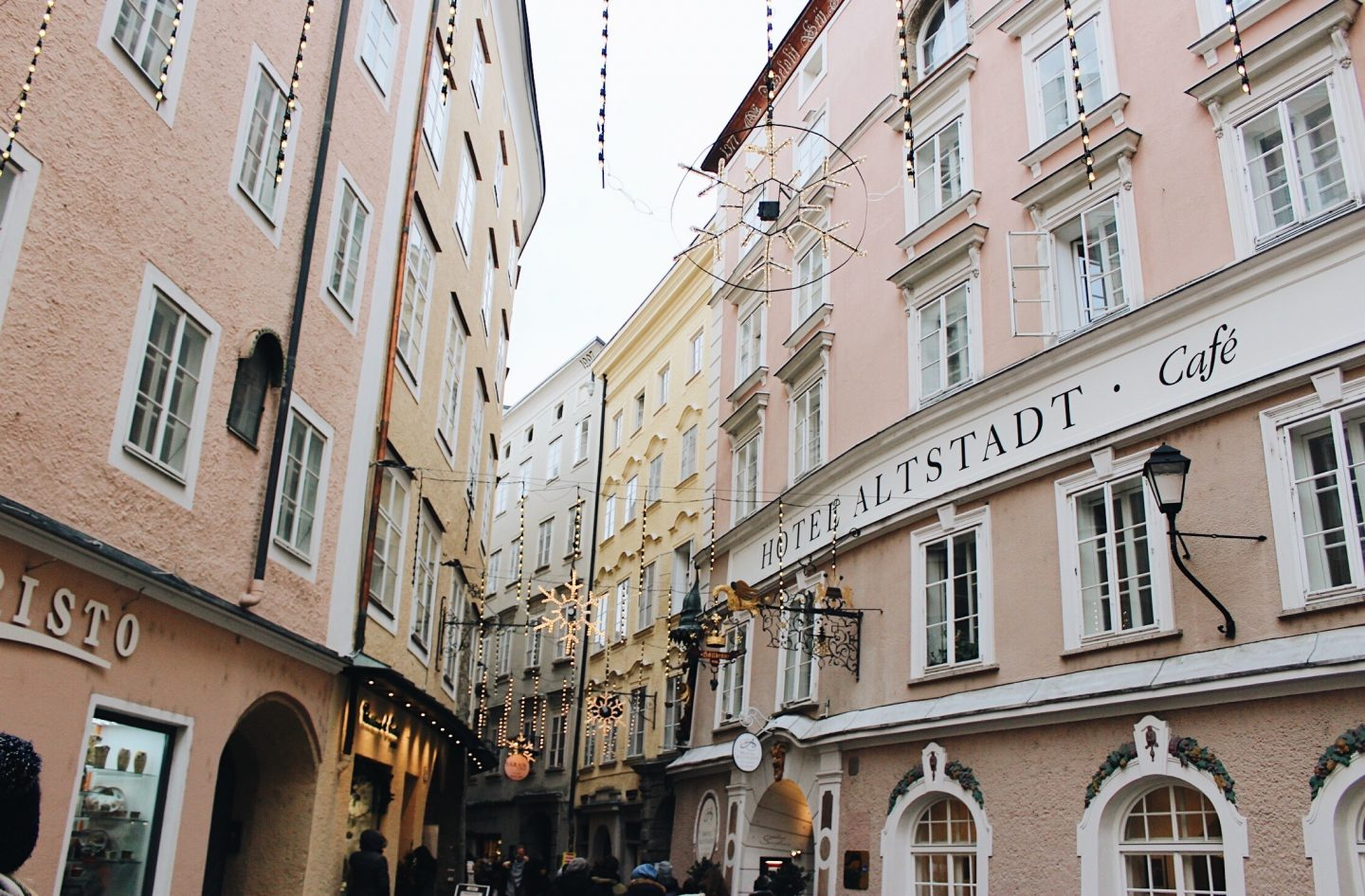 The decorated streets of Salzburg, Austria!