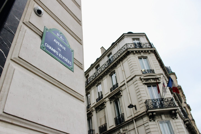 Strolling down the famous Avenue des Champs-Elysées!