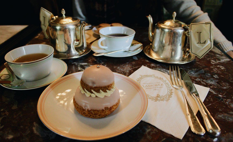Tea time at Laduree in Paris!