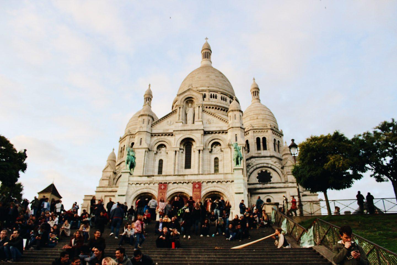 The Sacre Coeur Basilica in Paris, France!