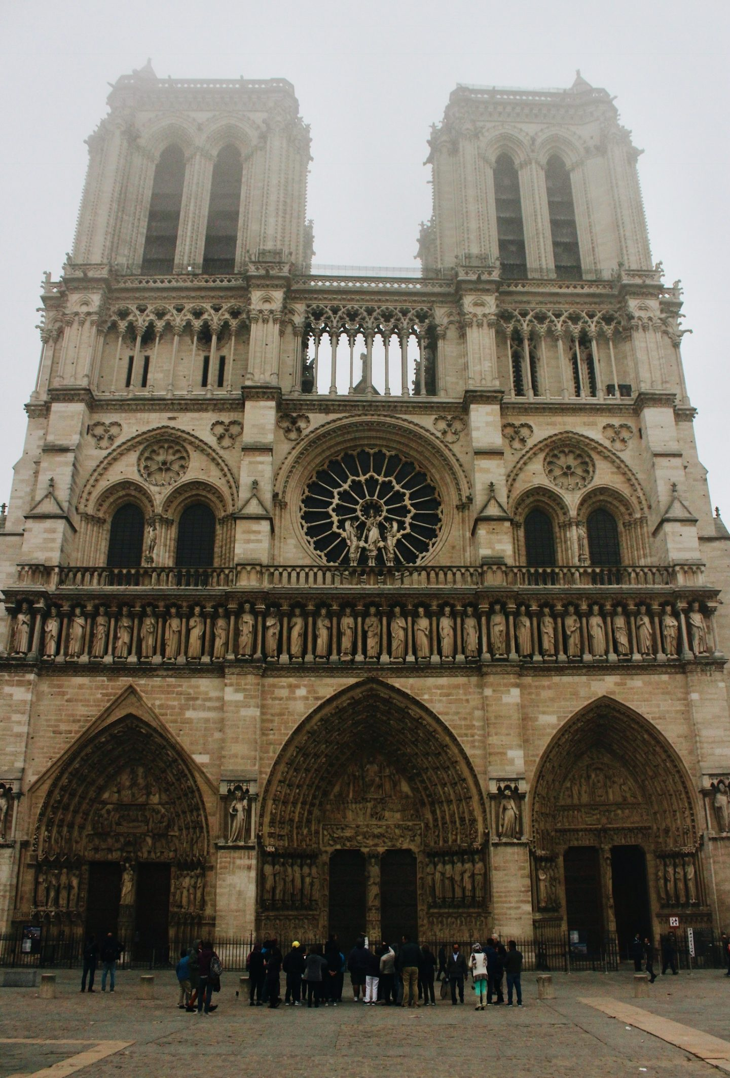 The Notre-Dame Cathedral's front facade