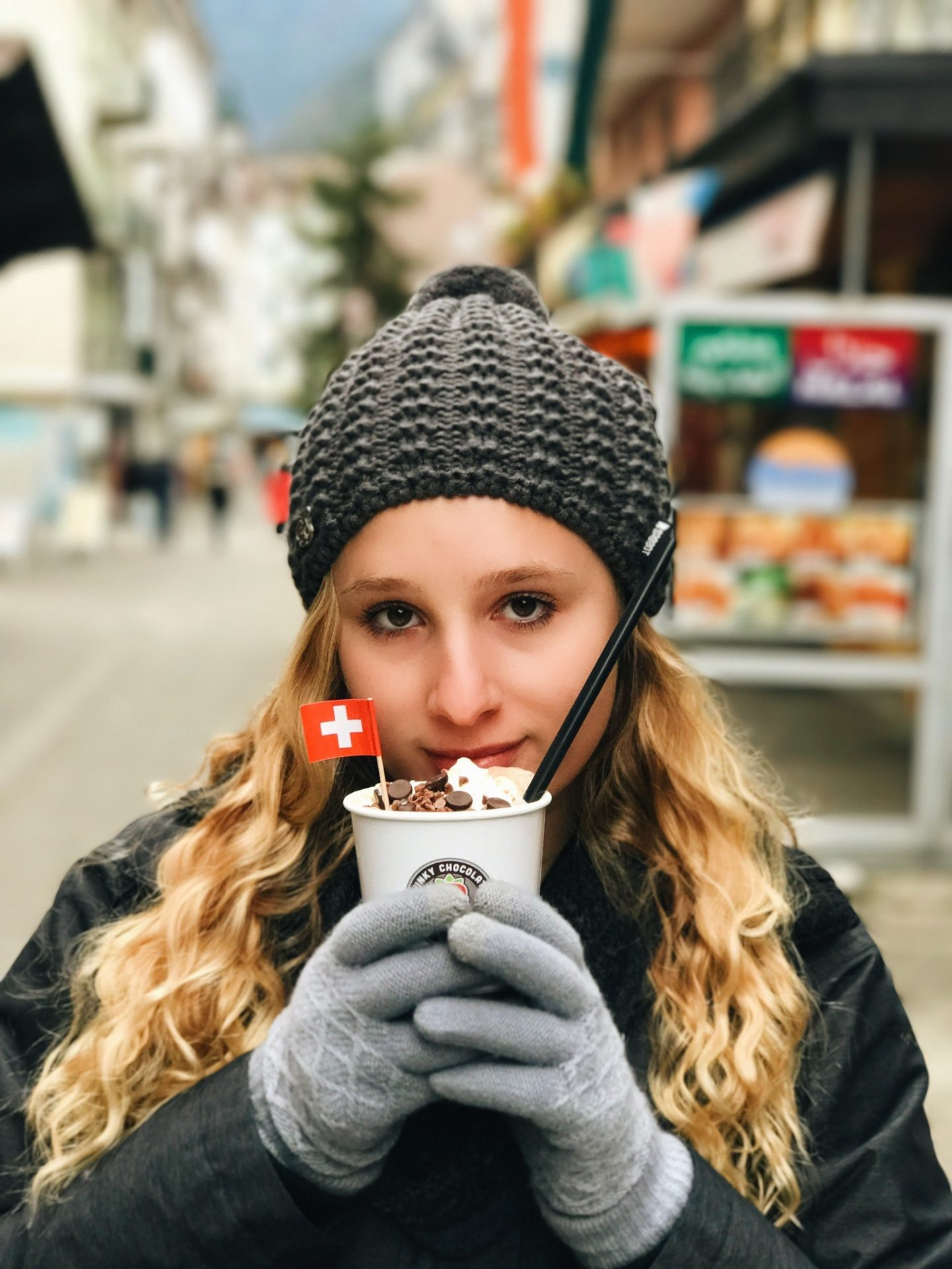 Drinking the BEST Swiss hot chocolate in Interlaken, Switzerland!