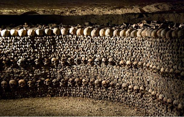 Paris' underground Catacombs