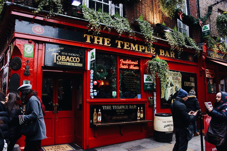 The Temple Bar in Dublin, Ireland!