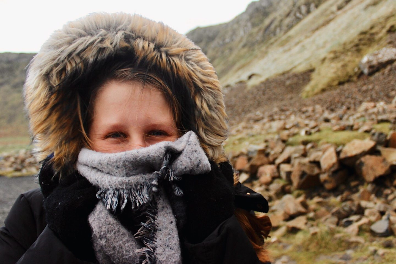 Photo of my friend Amber in Northern Ireland!