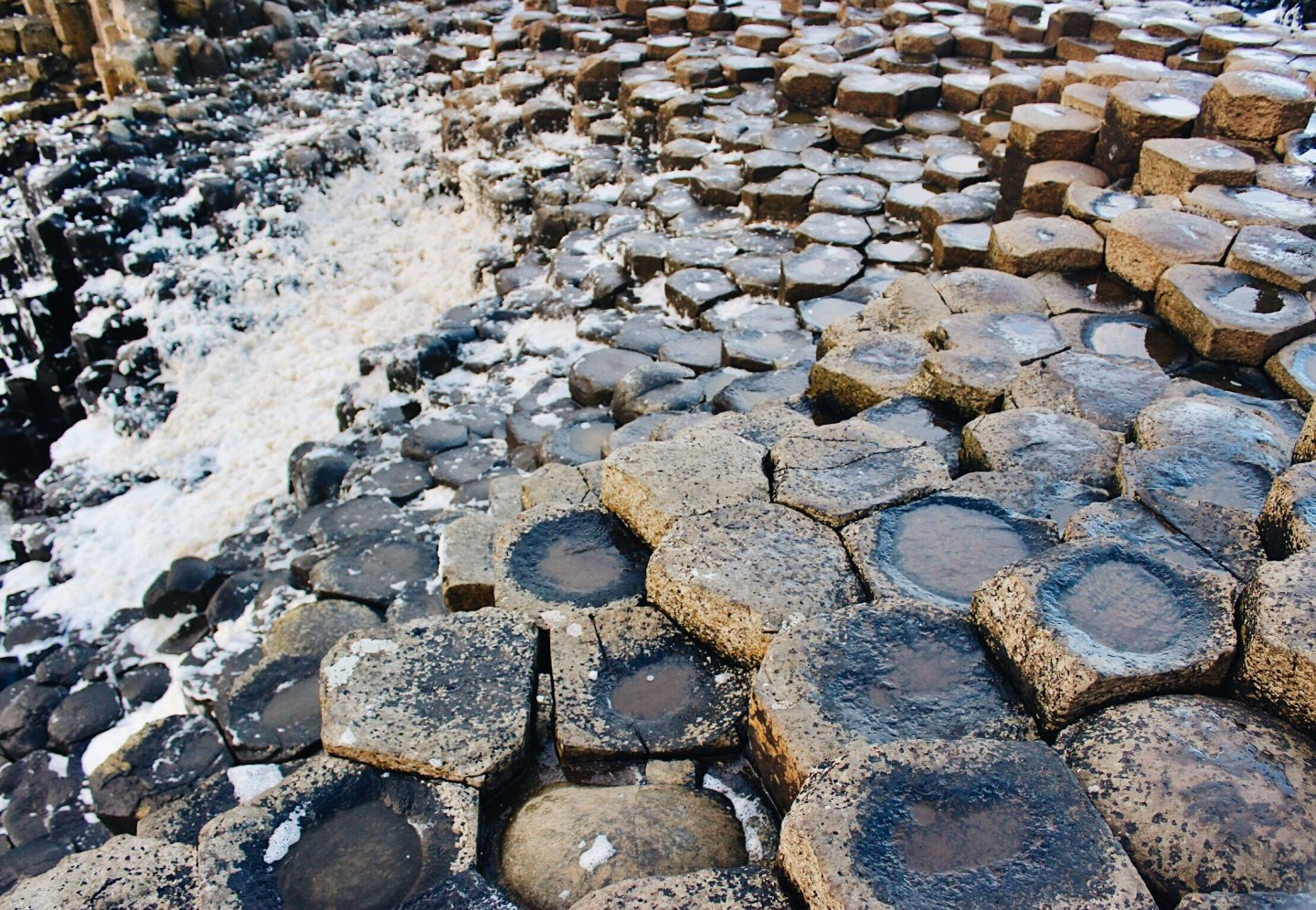 The rock formations of Giant's Causeway in Northern Ireland!
