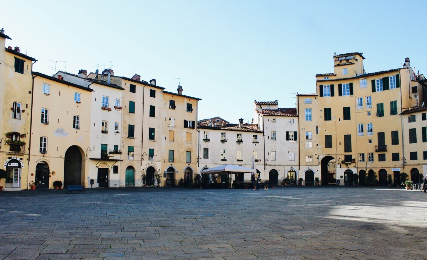 The main square in Lucca, Italy!