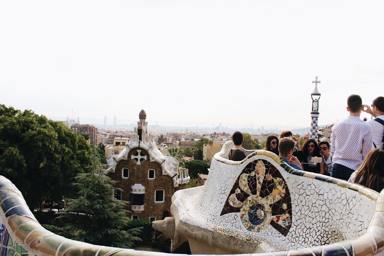 Parc Güell mosaics in Barcelona, Spain!