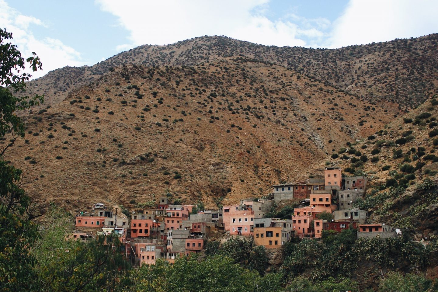 Photo of a Berber village in the Ourika mountains