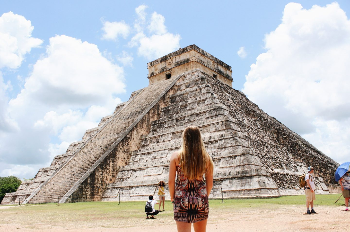 Standing in front of one of the 7 Wonders of the World in Mexico!
