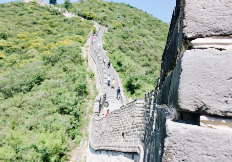 Walking along with Great Wall of China!