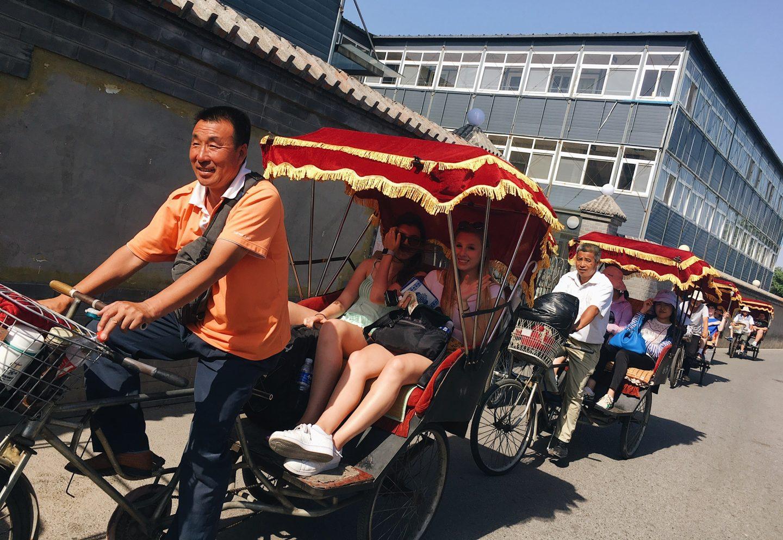 Rickshaw tour of the ancient Hutong homes in Beijing, China!