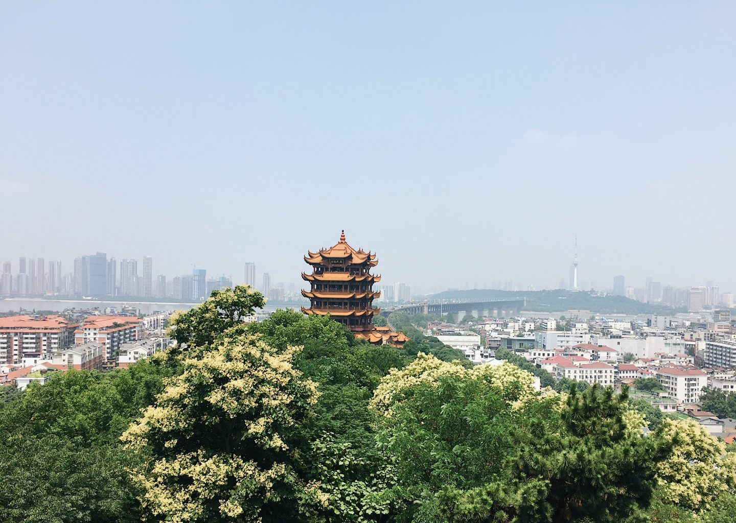 The Yellow Crane Tower in Wuhan, China!