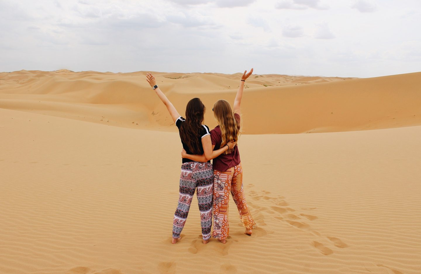 Posing in the dunes in Inner Mongolia, China!