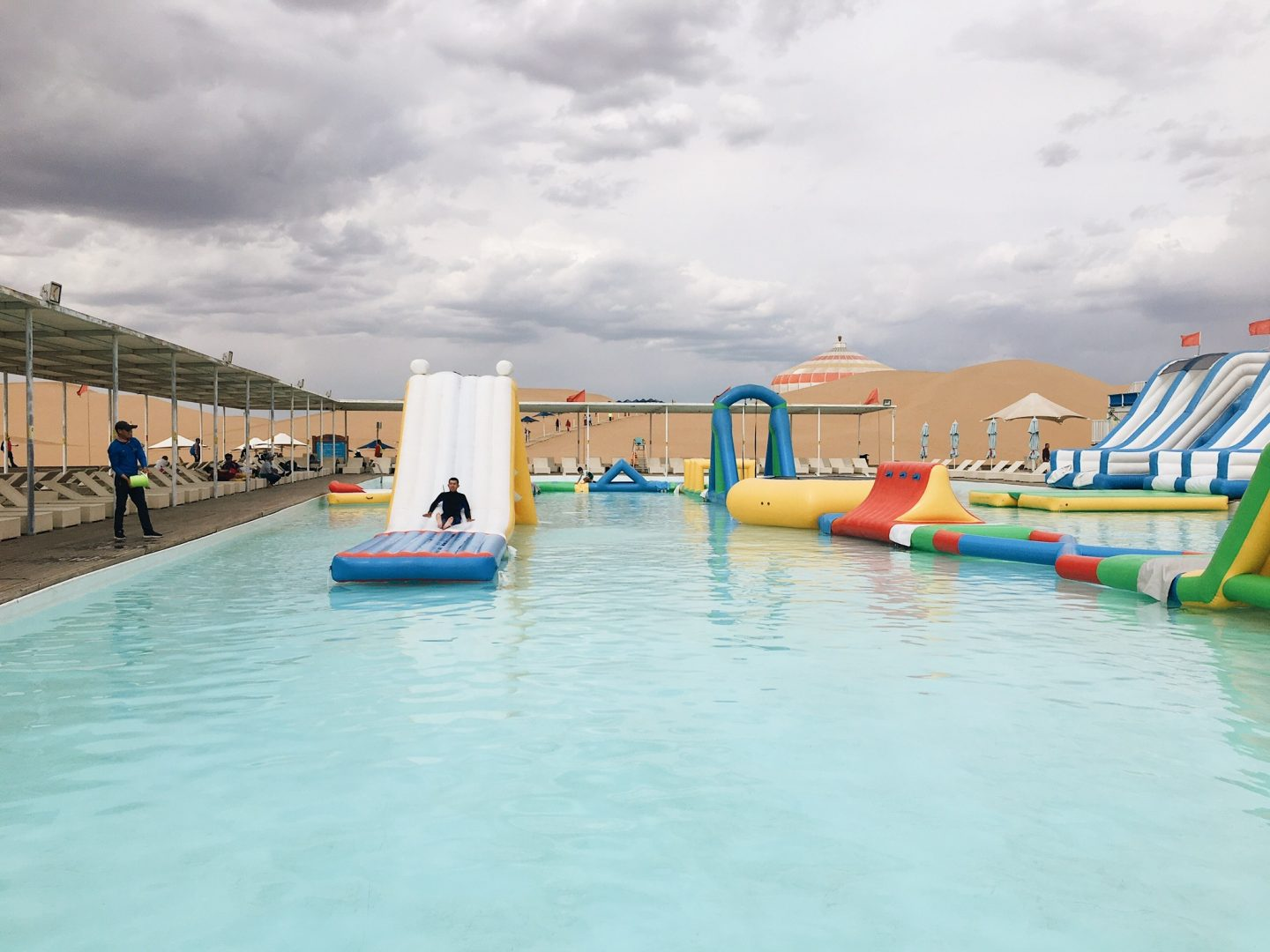 Water park in the desert in Inner Mongolia, China!