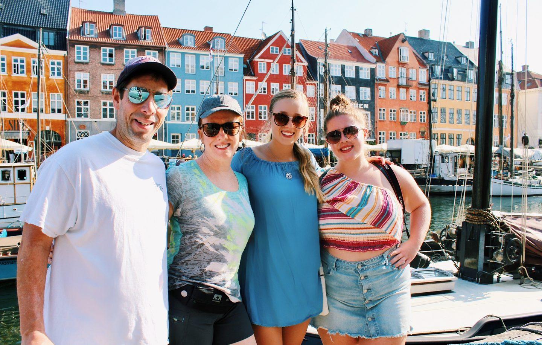 With my family in Nyhavn harbor in Copenhagen, Denmark!