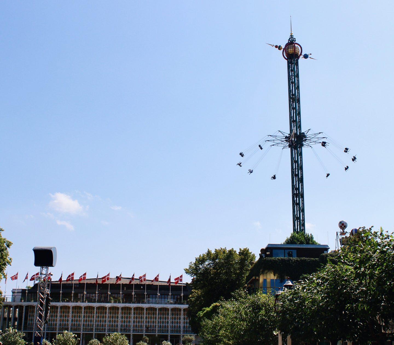Tivoli Gardens amusement park in Copenhagen, Denmark.