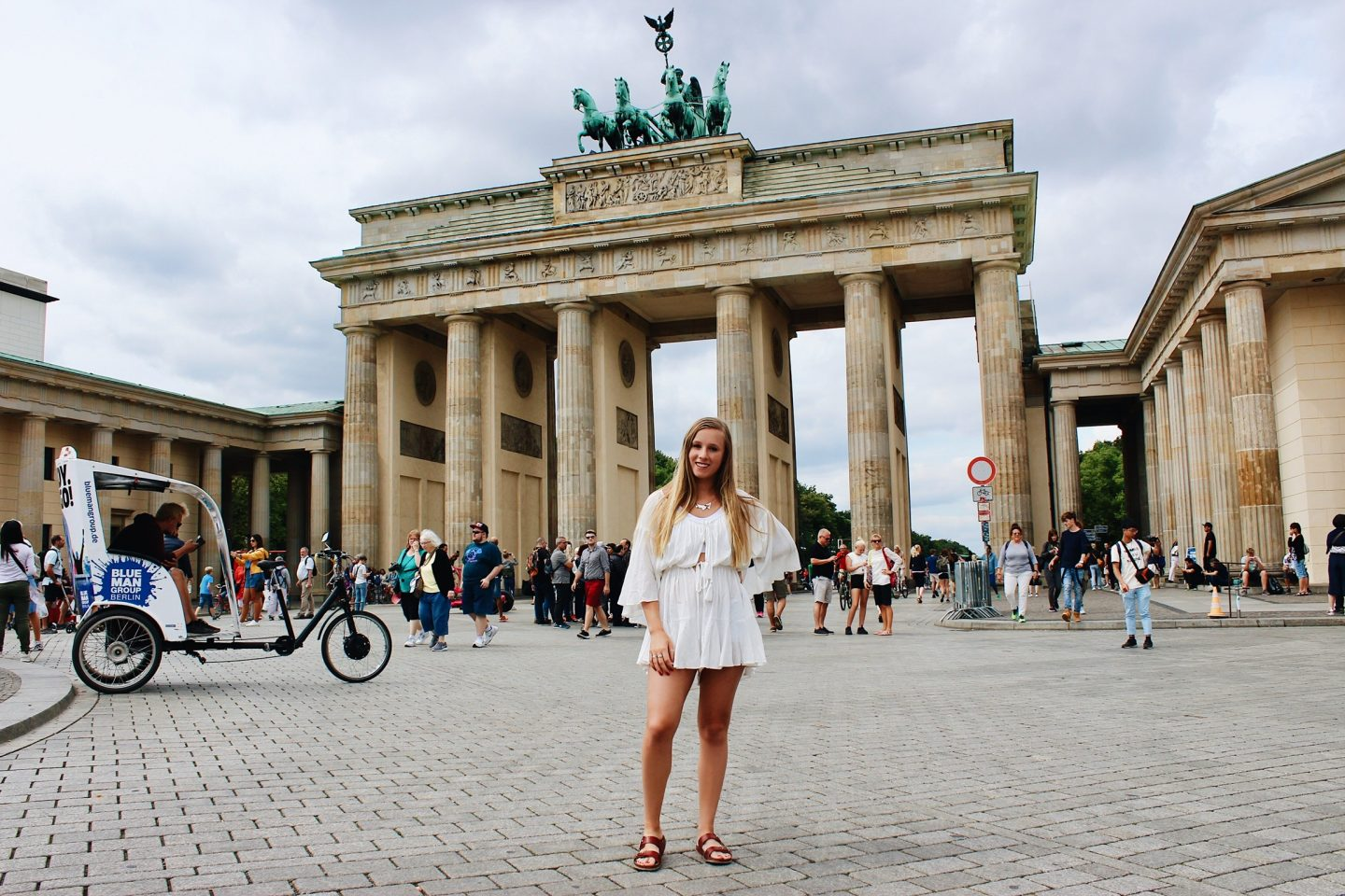 Photo in front of Brandenburg Gate in Berlin, Germany