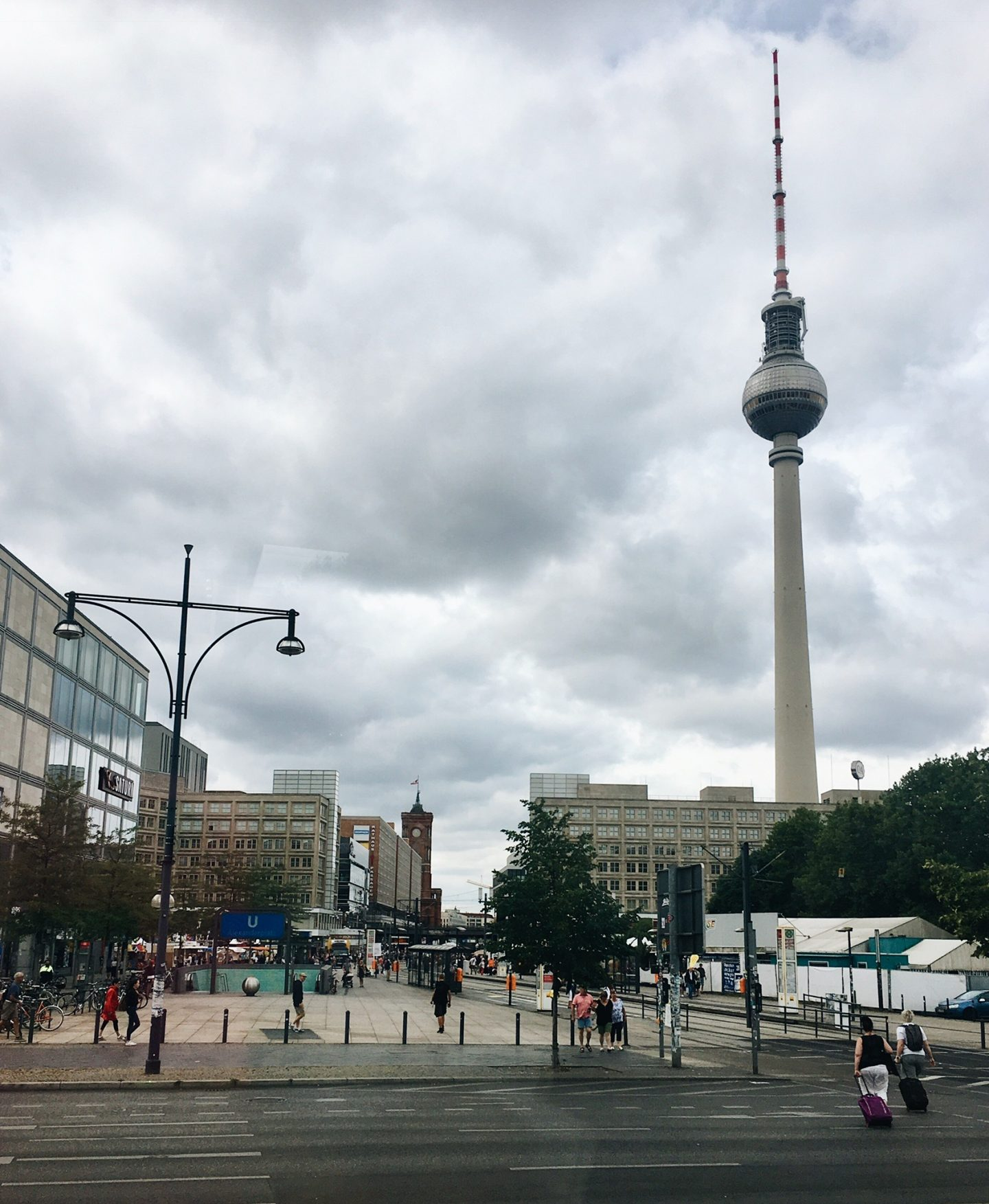 The famous TV tower in East Berlin, Germany.