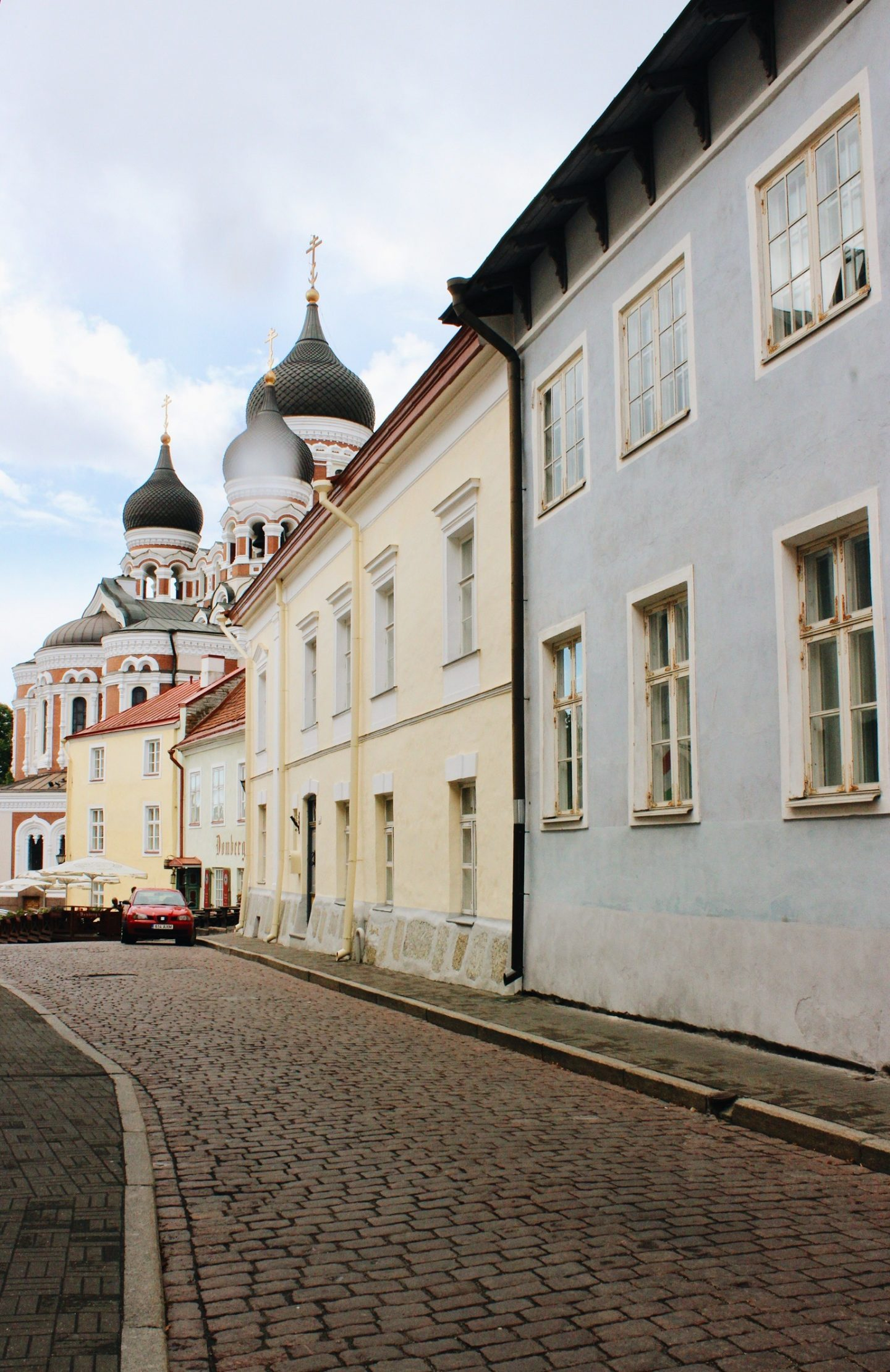 Charming streets of the Old Town in Tallinn, Estonia.