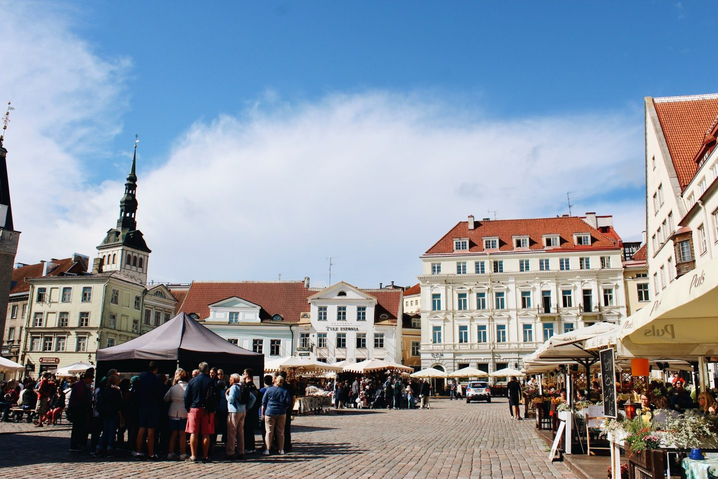 Main square in the lower town of Tallinn, Estonia!