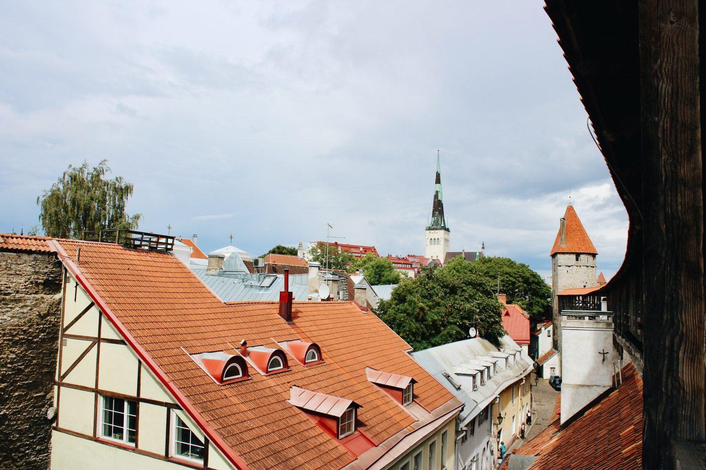 Tallinn, Estonia's old town walls.