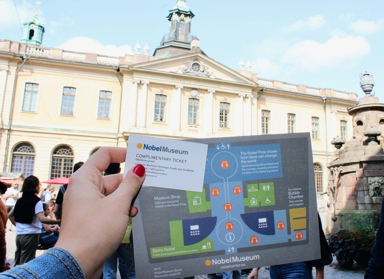 Visiting the Nobel Museum in Stockholm!