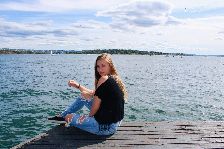 Posing on a dock in Oslo, Norway!