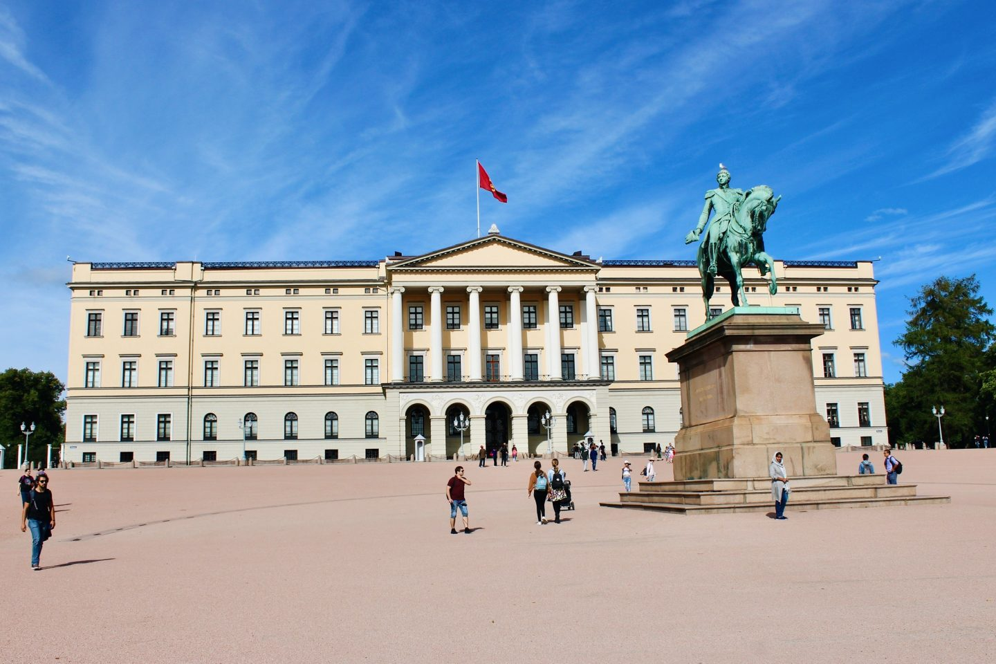 View of the Royal Palace in Oslo, Norway!