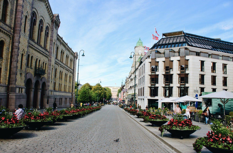 Karl Johannes Gate in Oslo, Norway!