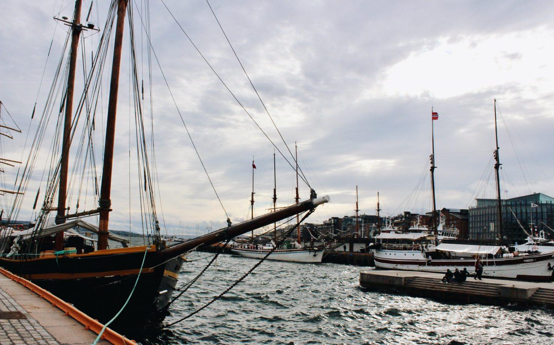 Oslo, Norway boat harbor.