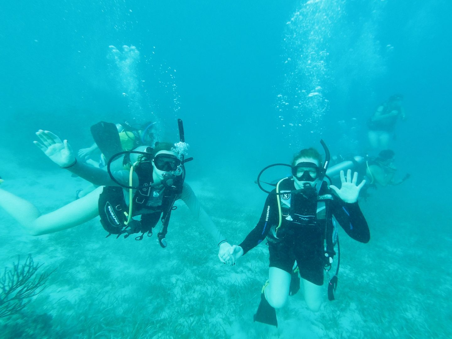 Scuba diving with my mom in the Cayman Islands!