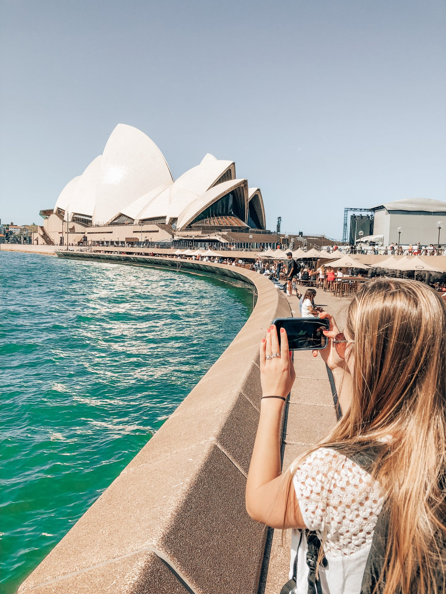 Taking a photo of the Sydney Opera House!