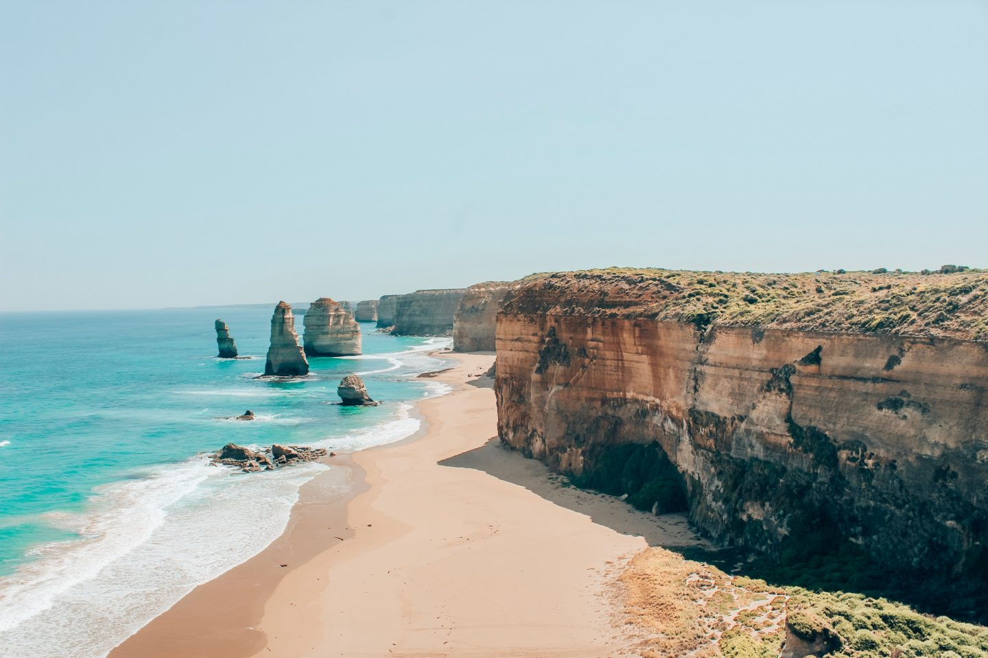 View of the 12 Apostles along the Great Ocean Road in Melbourne, Australia!