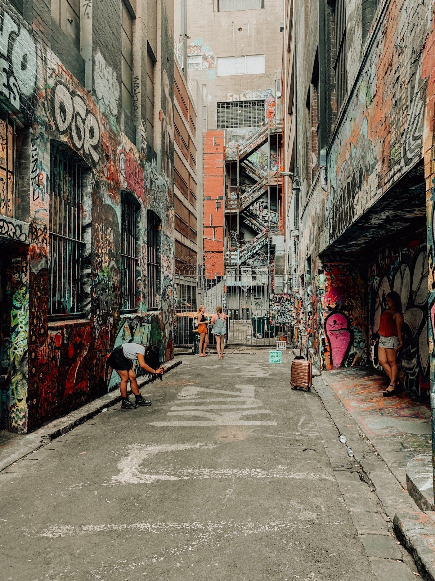 Famous Melbourne graffiti art