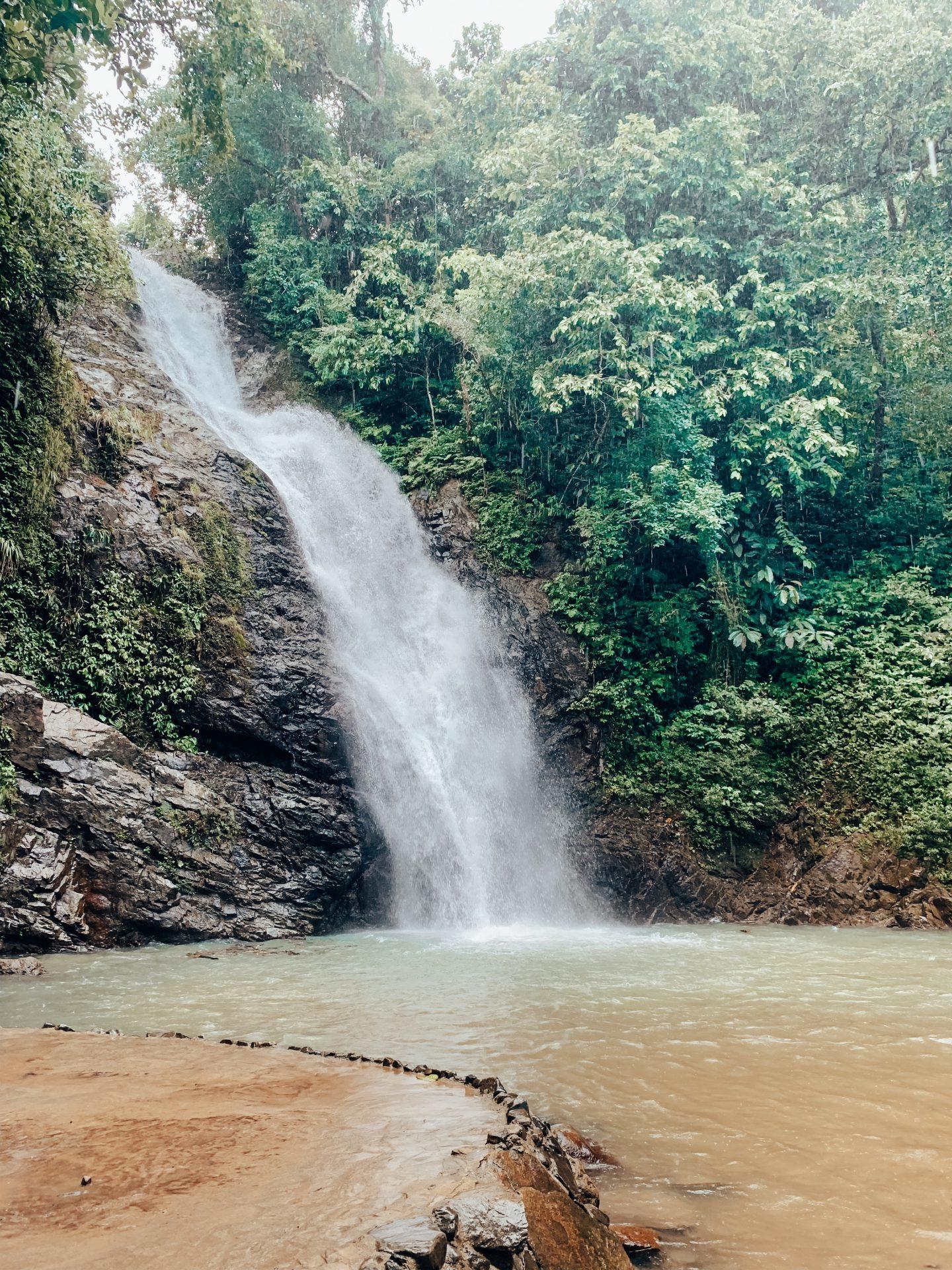 Exploring a local waterfall in Fiji!