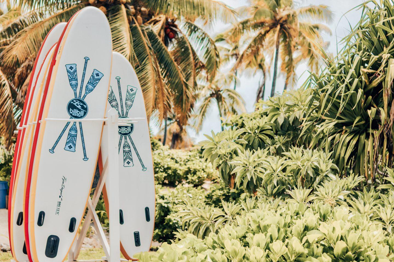 Surf boards on Malamala Island in Fiji!