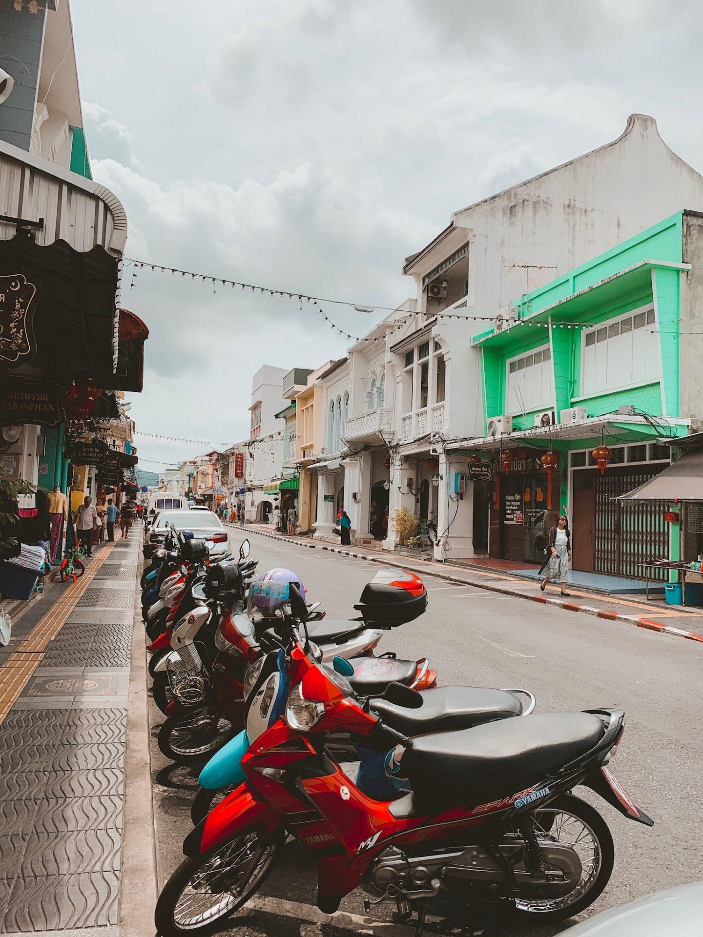 Thalang Road, Old Phuket, Thailand