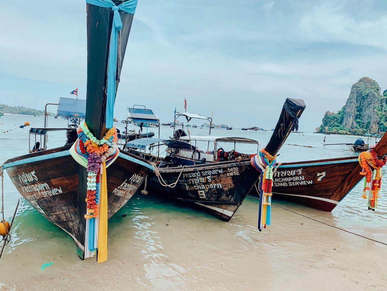 Traditional Thai boats at Kata Beach, Phuket, Thailand!