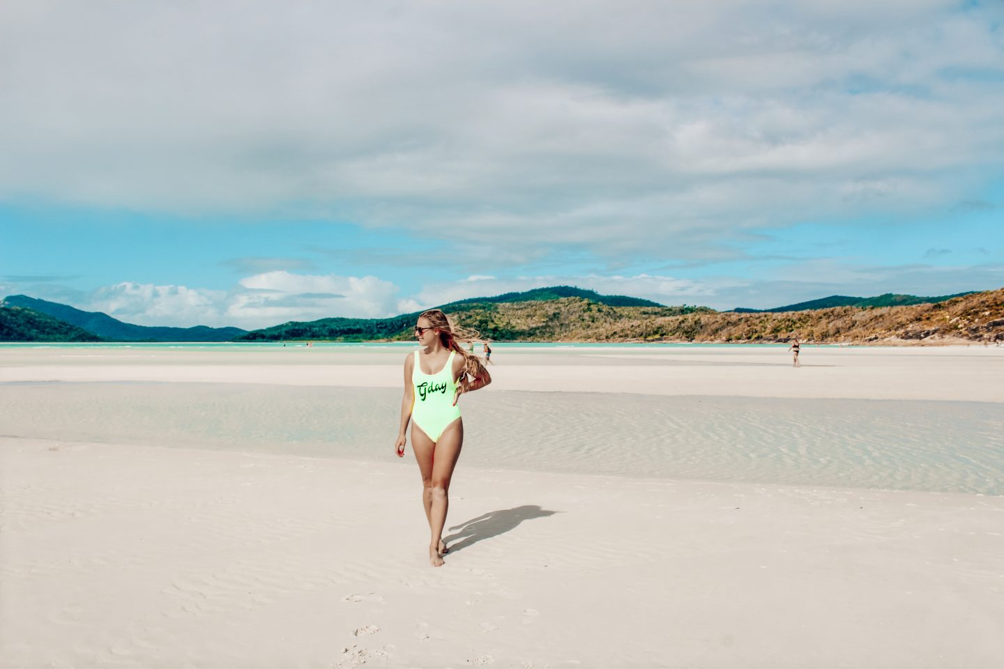 Visiting Whitehaven Beach in the Whitsunday Islands.