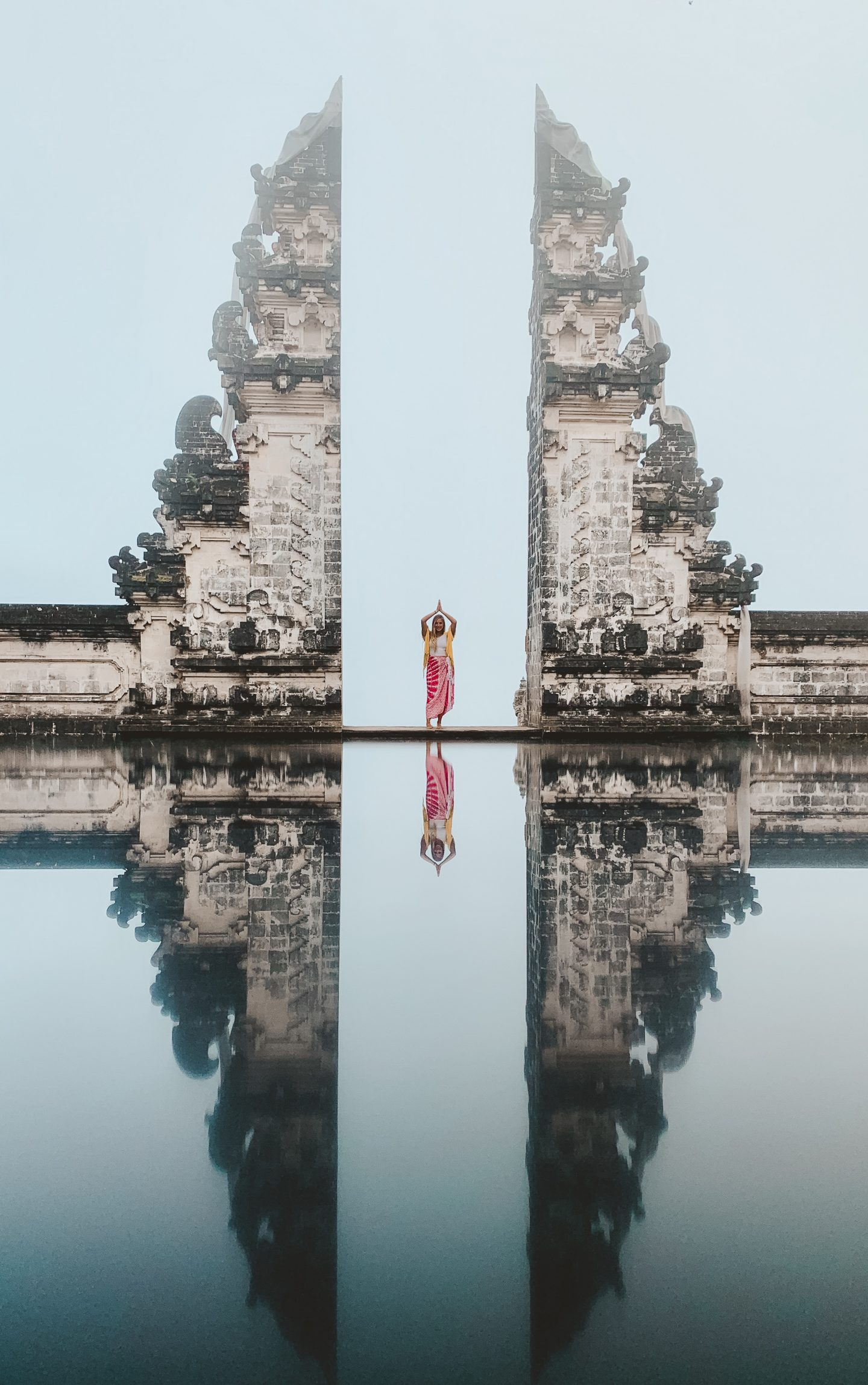 Standing in the Gates of Heaven at the Lempuyang Temple in Bali!