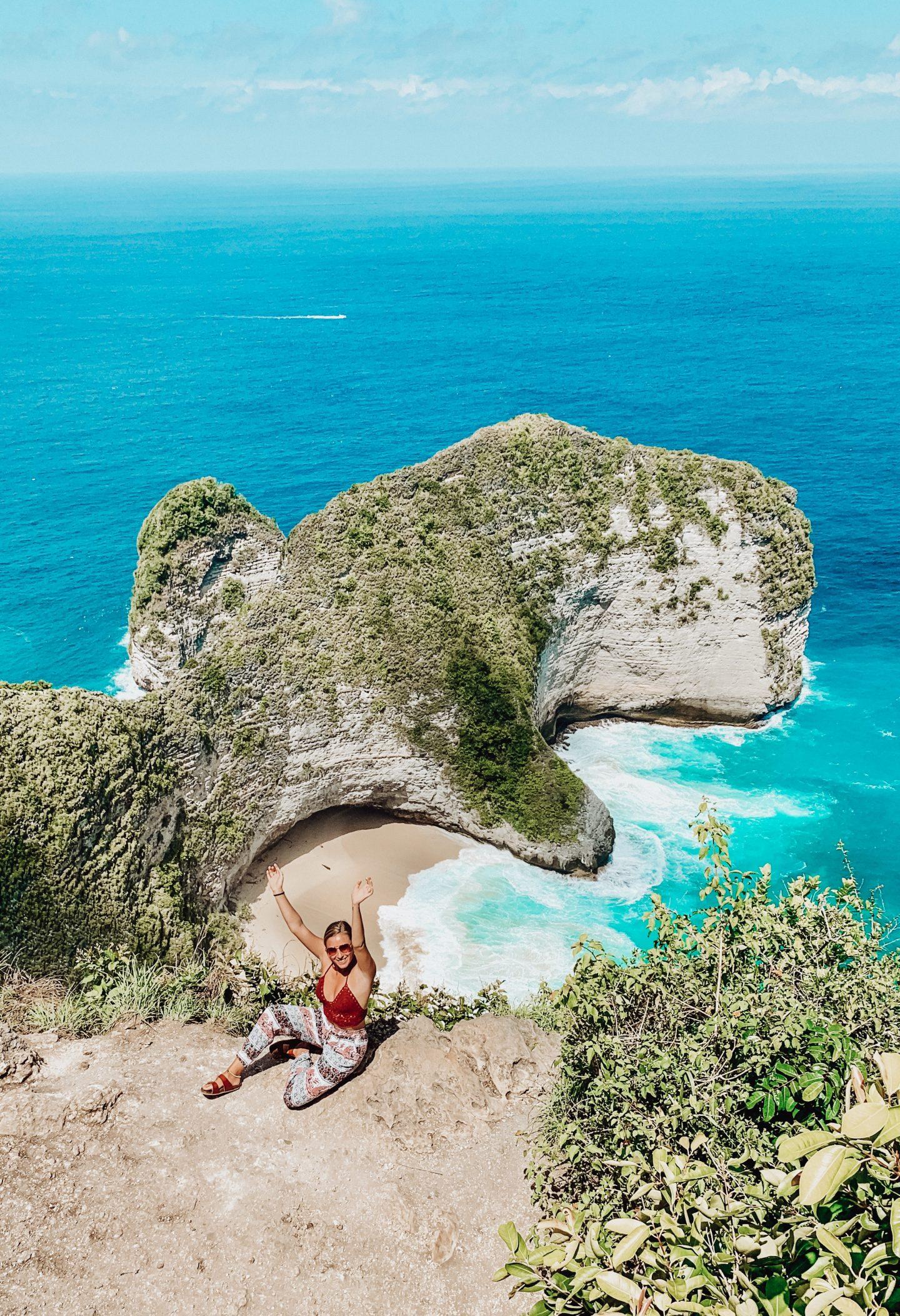 View of me looking down to Klingking Beach on Nusa Penida Island