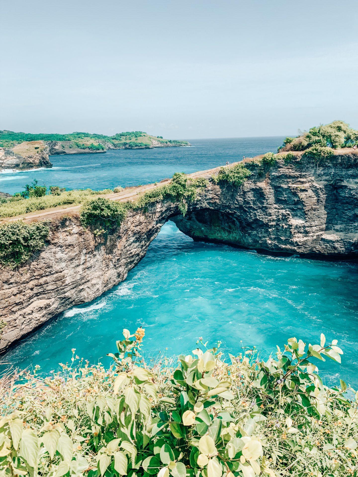 Broken Bridge archway on Nusa Penida island