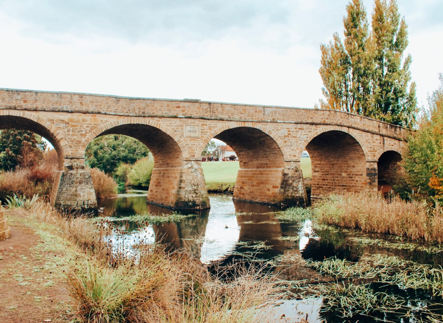 The oldest bridge in Australia in Richmond on our Tasmania road trip!