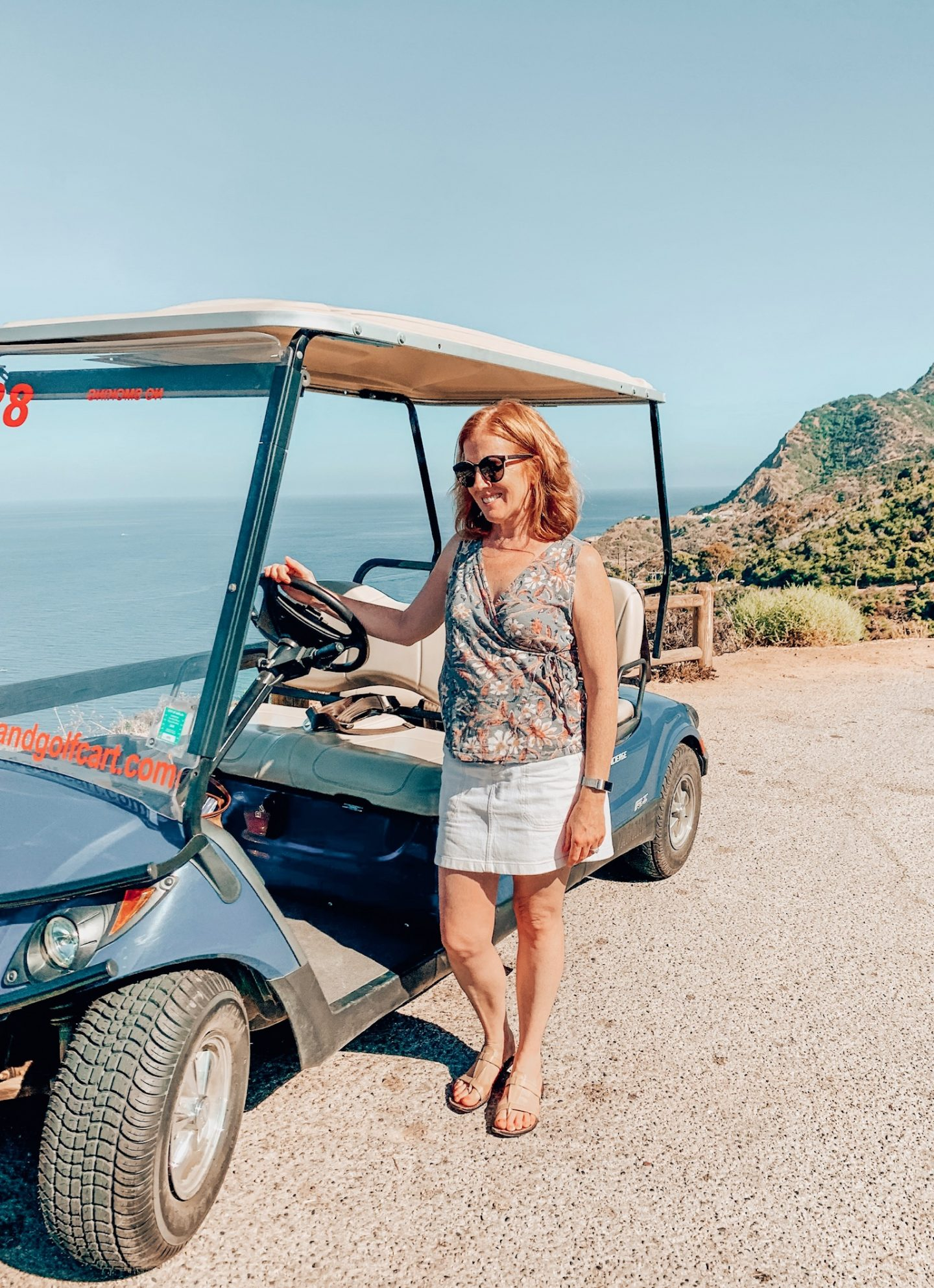 Renting a golf cart on Catalina Island!