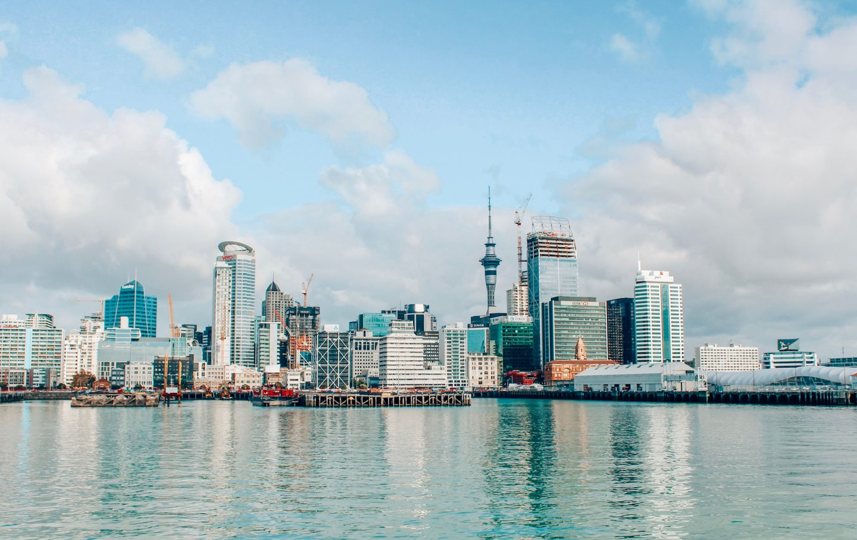 Photo of the Auckland, New Zealand skyline.