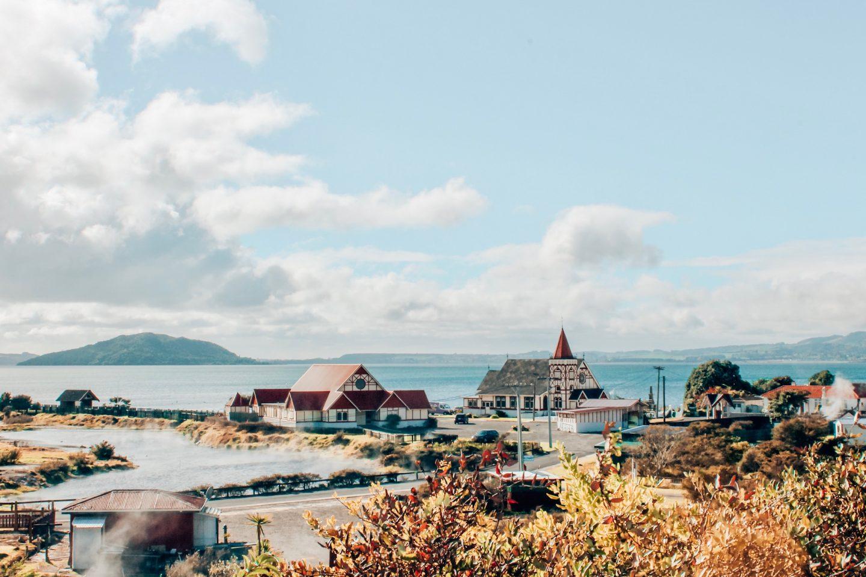 Rotorua village on New Zealand's North Island!