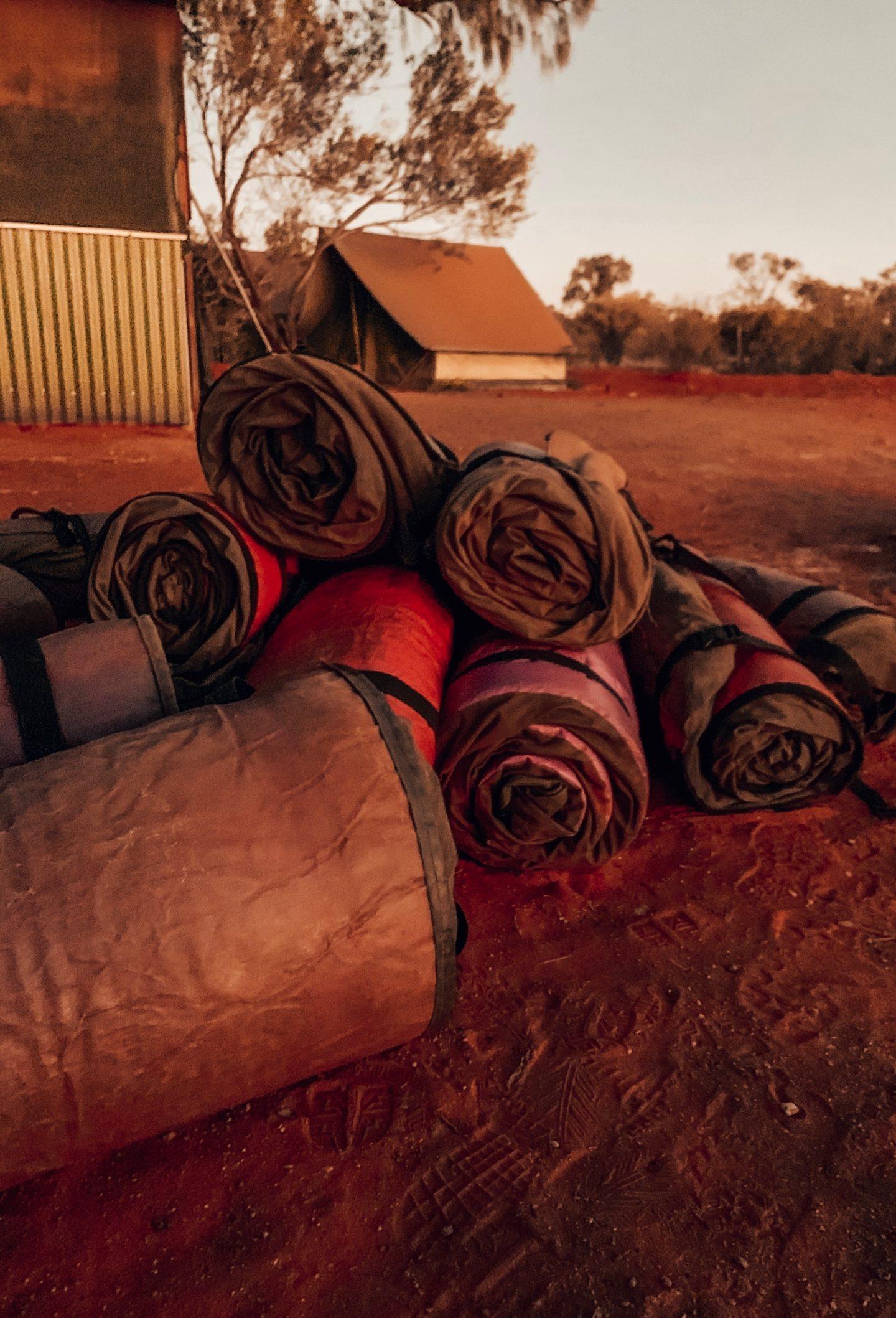 Our campsite in the Outback near Uluru.